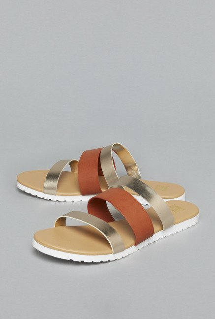 Head Over Heels Golden Sandals