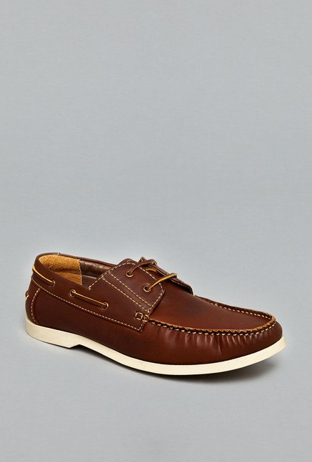 Azzurro Brown Boat Shoes