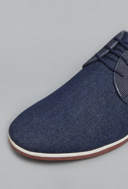 Azzurro Navy Lace Up Shoes