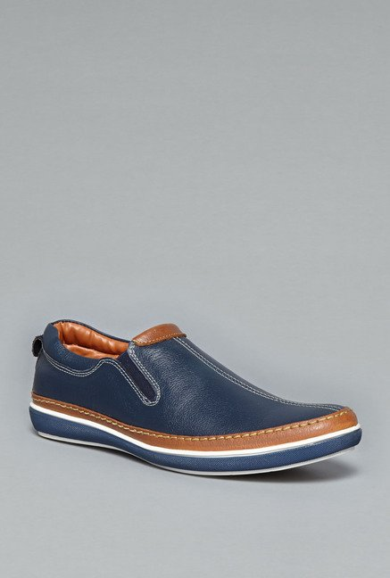 David Jones Navy Leather Loafers