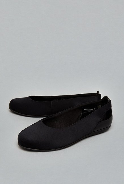 Head Over Heels Black Ballerina Shoes