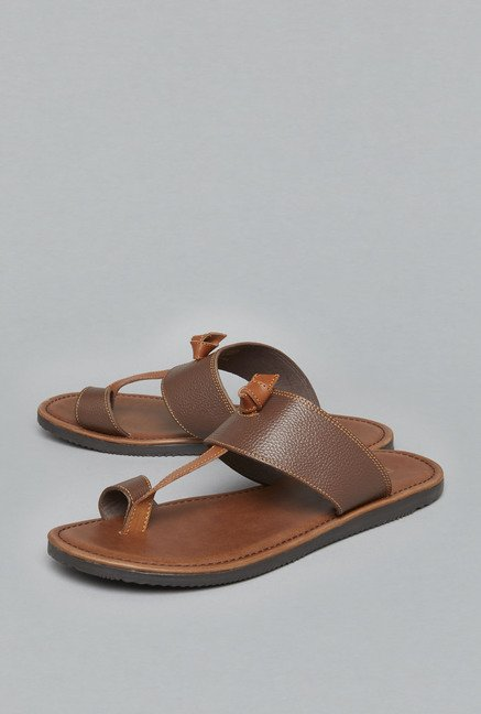 ETA Brown Leather Sandals
