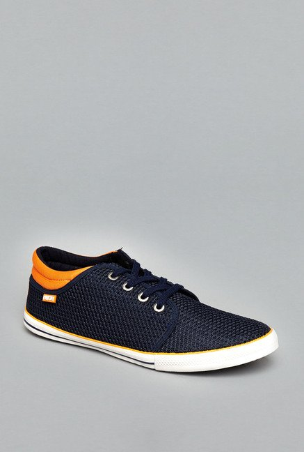 Nuon Navy Lace Up Sneakers
