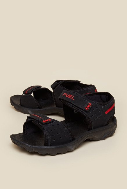 Zudio Black Ankle Strap Sandals