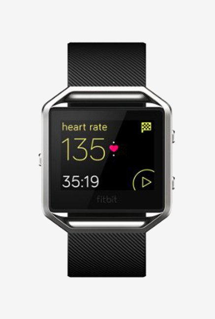 Fitbit Blaze FB159ABBKL Band Classic Fitness Watch(Black)