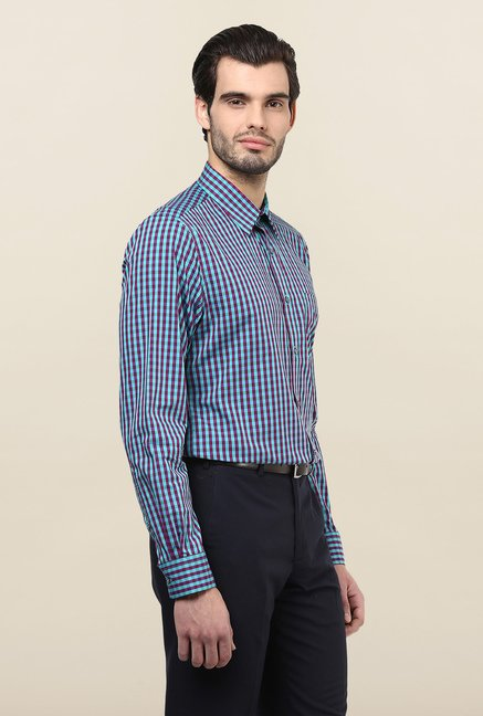 Turtle Multicolor Checks Formal Shirt