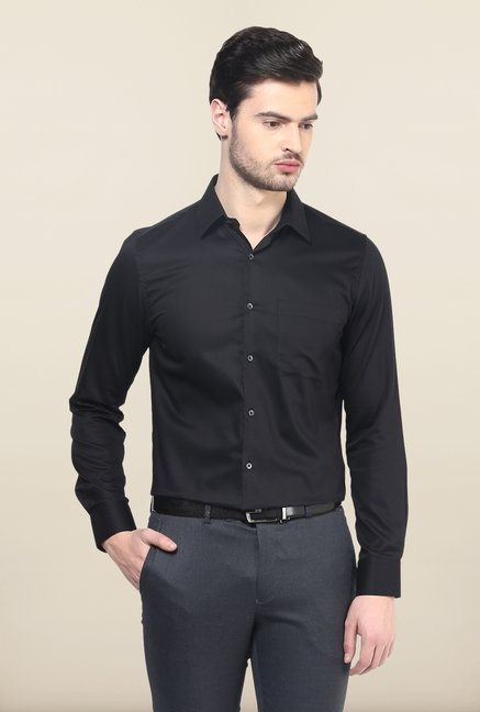 Turtle Black Checks Formal Shirt