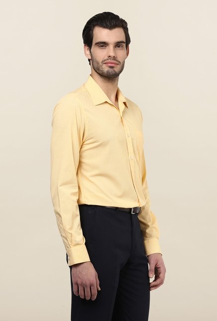 Turtle Yellow Checks Formal Shirt