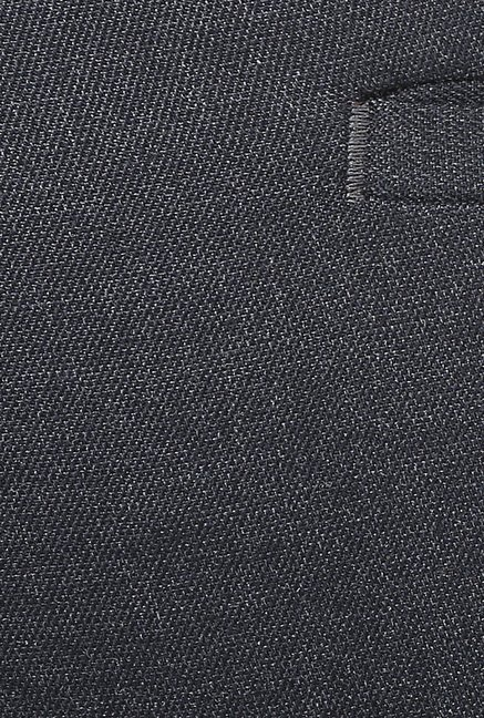 Turtle Grey Solid Formal Trousers
