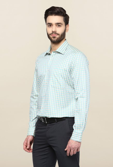 Turtle Blue Checks Formal Shirt