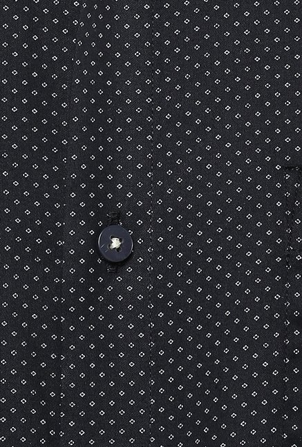 Turtle Black Prints Formal Shirt