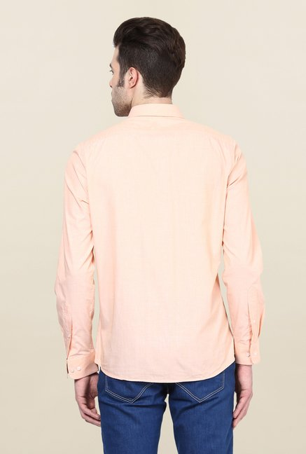 Turtle Peach Solid Formal Shirt