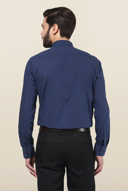 Turtle Navy Printed Formal Shirt