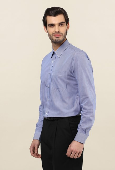 Turtle Blue Pin Striped Formal Shirt