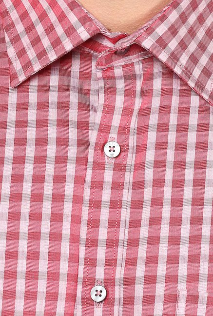 Turtle Red Checks Formal Shirt