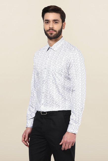 Turtle White Paisley printed Formal Shirt