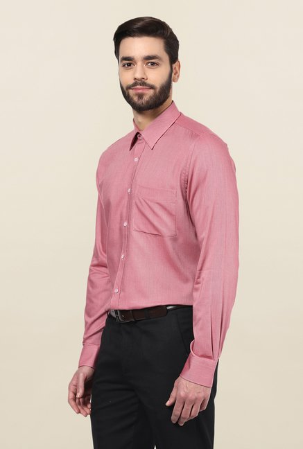 Turtle Pink Micro Checks Formal Shirt