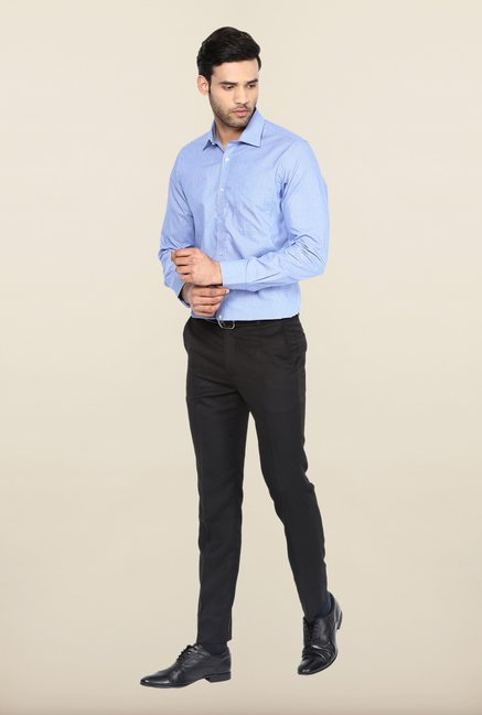 Turtle Blue Micro Checks Formal Shirt