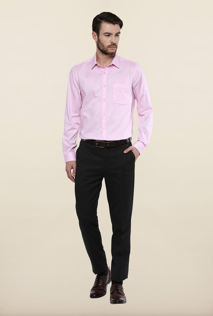 Turtle Pink Textured Formal Shirt
