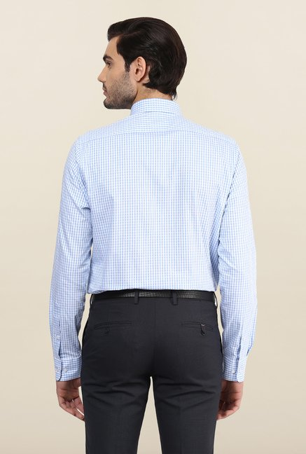 Turtle Blue & White Checks Formal Shirt