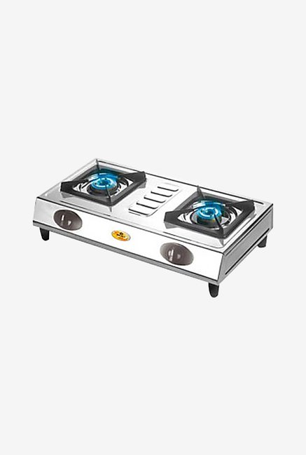 Bajaj CX8 2 Burner Gas Cooktops (Silver)