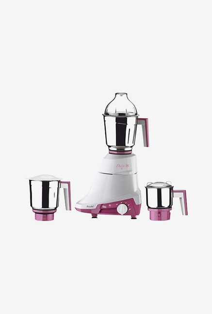 Preethi Daisy MG201 750W Mixer Grinder (White & Pink)