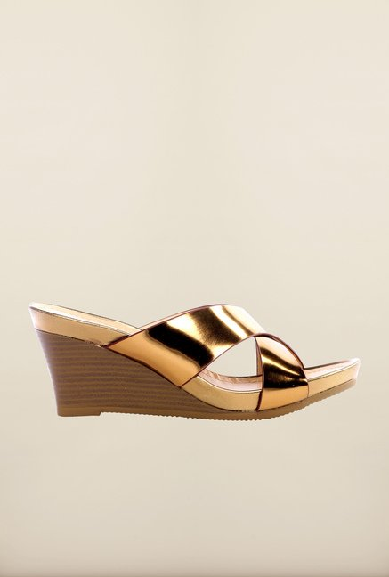 Pavers England Bronze Wedge Sandals