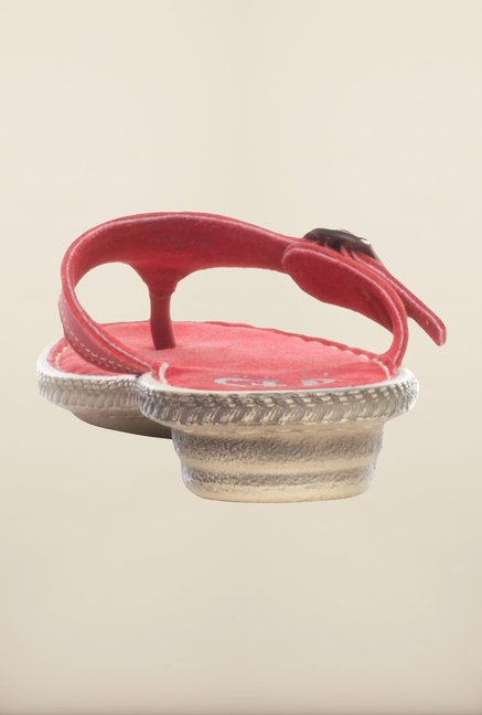 Pavers England Pink Thong Sandals