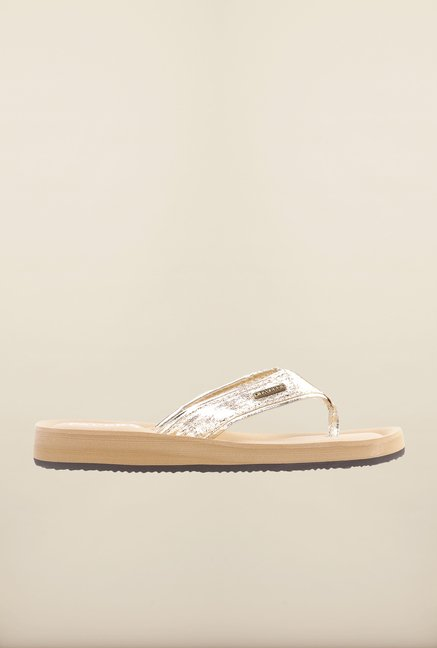 Pavers England Golden Thong Sandals