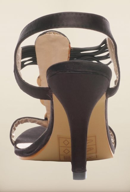 Pavers England Black Stiletto Sandals