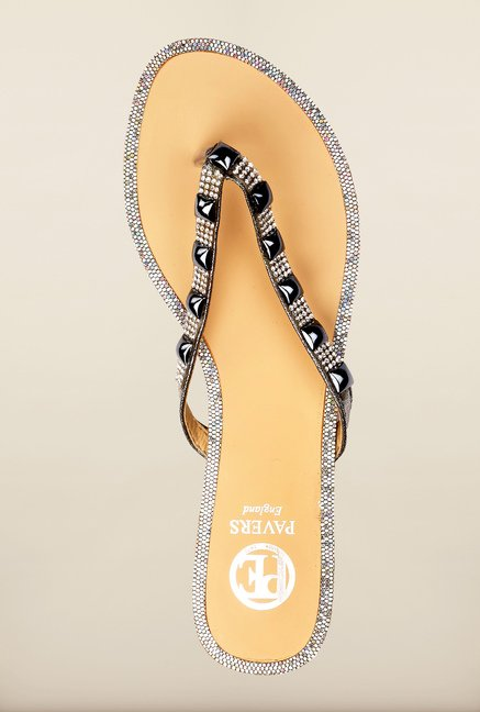 Pavers England Grey Thong Sandals