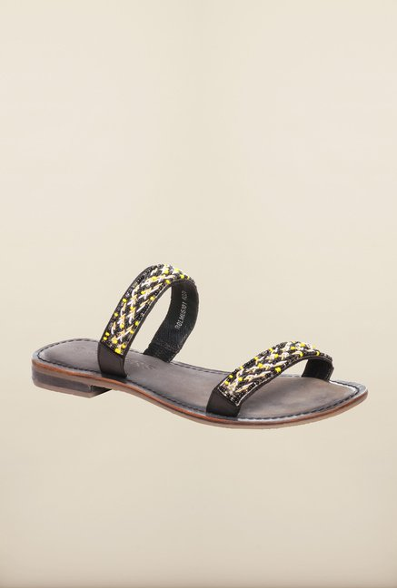 Pavers England Black Casual Sandals