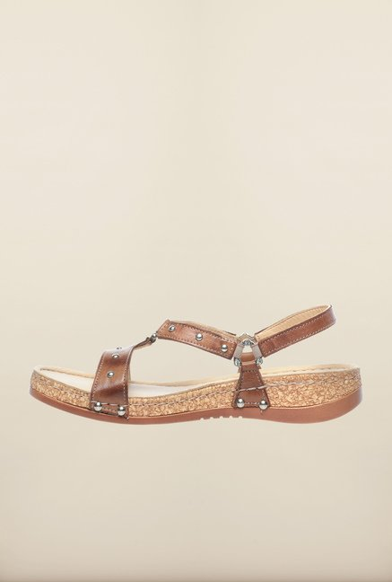 Pavers England Tan Thong Sandals