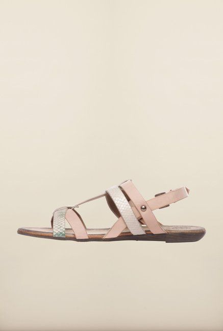 Pavers England Light Pink Back Strap Sandals