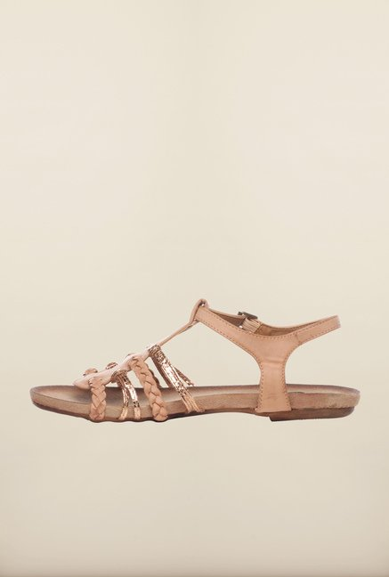 Pavers England Apricot Ankle Strap Sandals