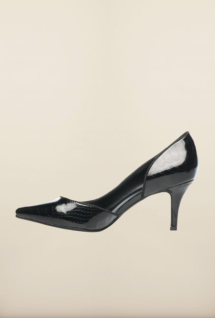 Pavers England Black Stiletto Shoes
