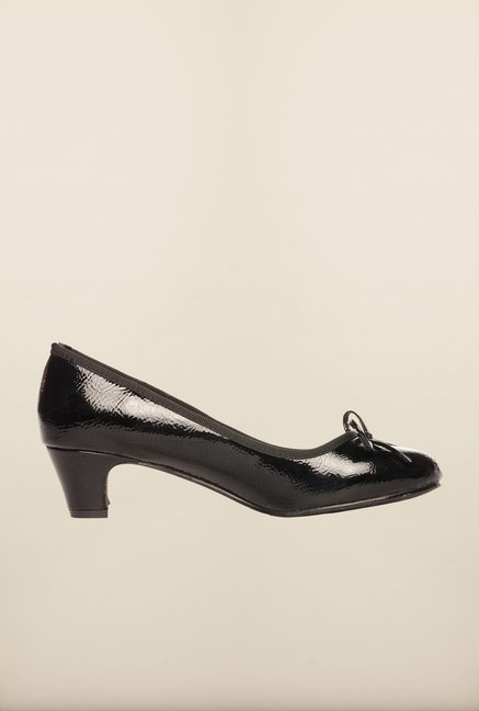 Pavers England Black Pump Shoes