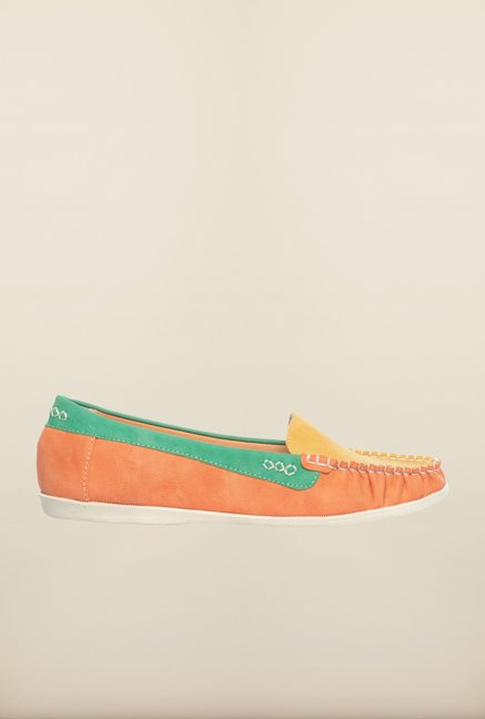 Pavers England Yellow & Orange Casual Loafers