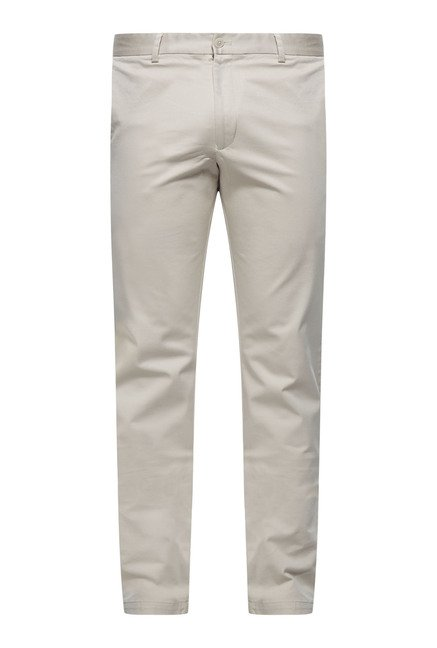 Cottonworld Beige Cotton Chinos