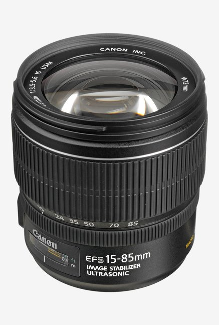 Canon EF-S 15-85mm f/3.5-5.6 IS USM Lens Black