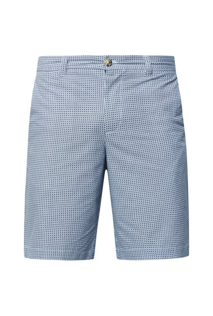 Cottonworld Blue Printed Shorts