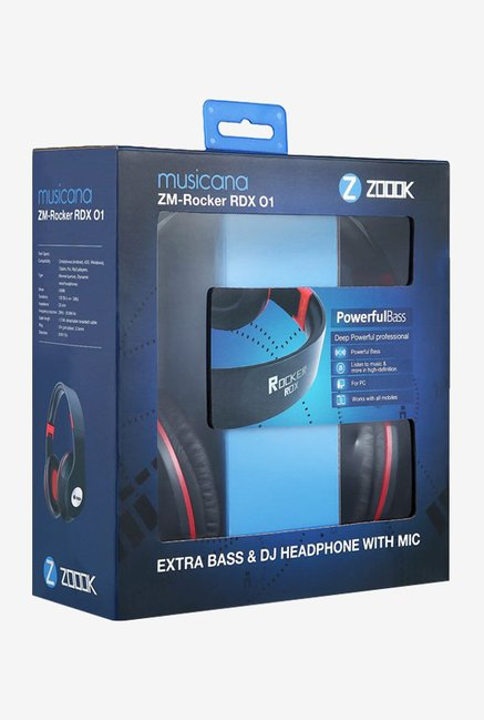 Zoook Rocker-RDXO1 Over The Ear Headphone (Black)