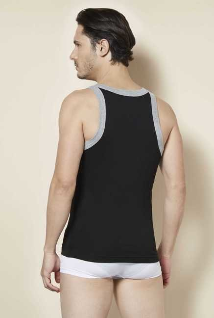 Tuna London Black Solid Vest