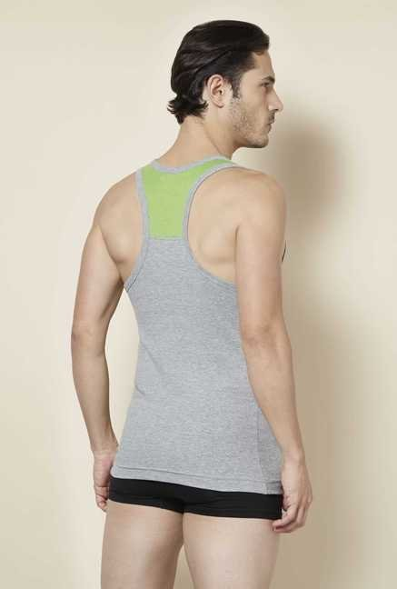 Tuna London Grey Solid Vest