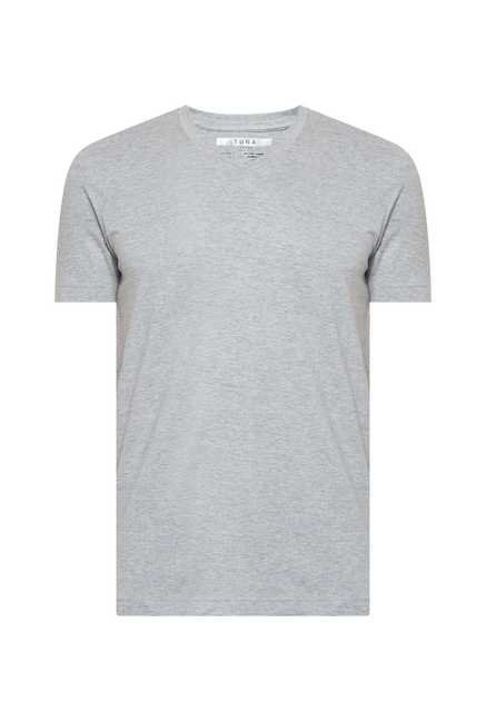 Tuna London Grey V neck T shirt