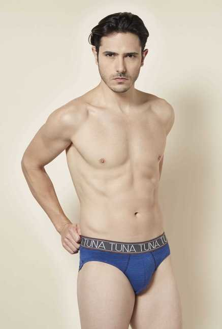 Tuna London Royal Blue Striped Brief