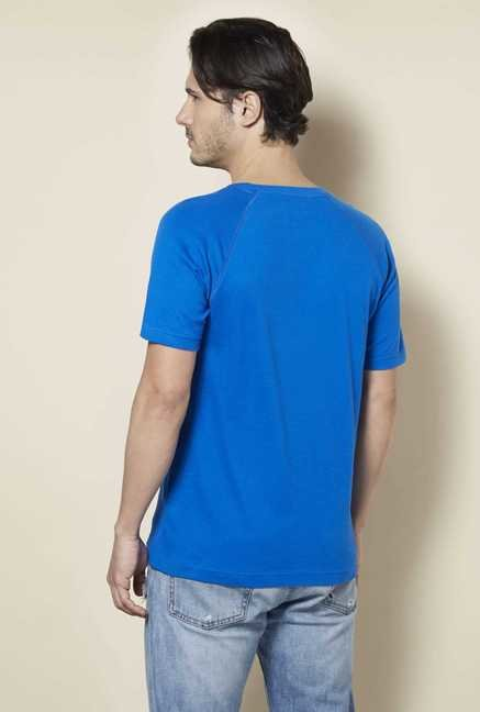 Tuna London Royal Blue Solid T Shirt