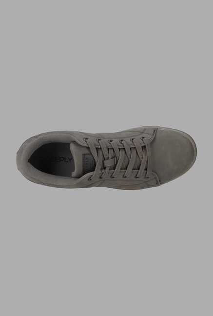 Deeply Grey Suede Leather Sneakers