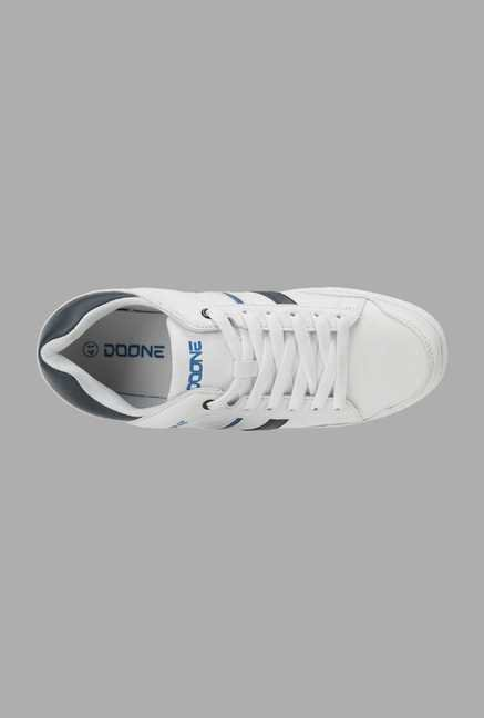 Doone White Lace Up Sneakers