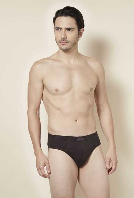 Tuna London Dark Brown Solid Brief